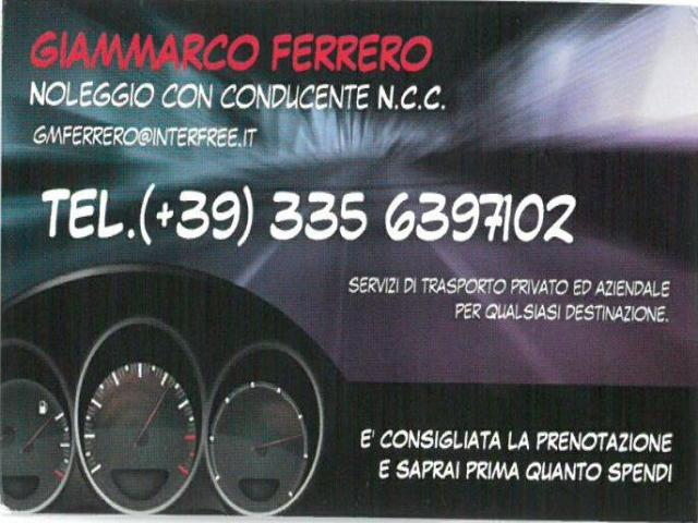CAR RENTAL WITH DRIVER OF FERRERO GIAMMARCO