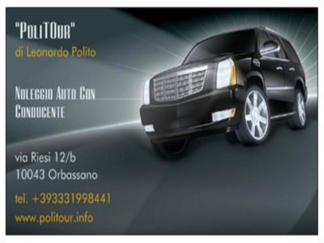 PoliTOur NCC rents auto with driver